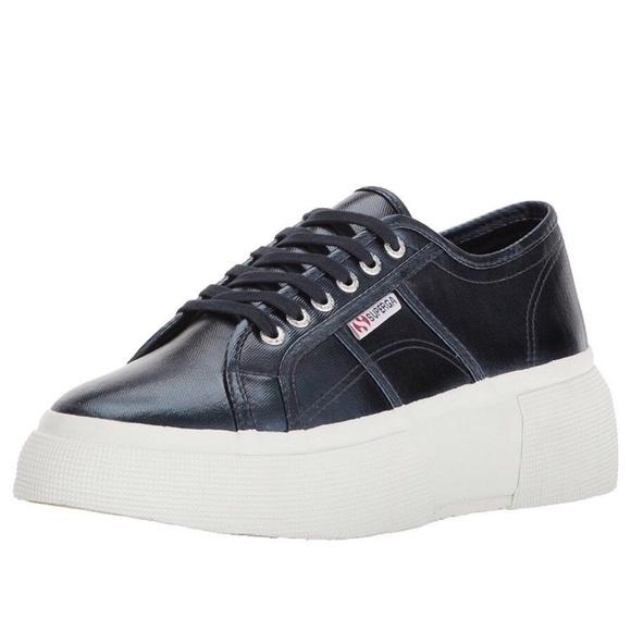 8887902084be Superga Cotu Platform Fashion Sneaker 9.5 Blue